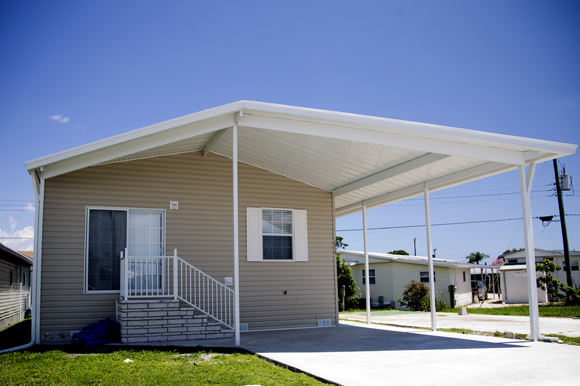 Manufactured home at Trailer Estates.