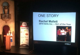 Ignite speaker Rachel Mallett 14, was awarded the Girls� Inc. Girl of the Year for 2014.