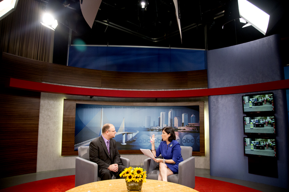 Positively Tampa Bay host Lissette Campos interviews Scott Richman.