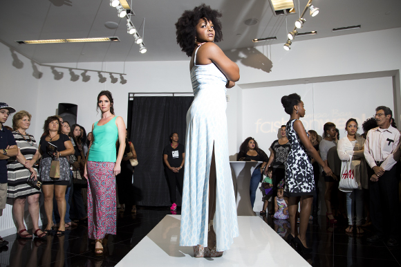 Cerulean Blu by Desiree Noisette is featured during Tampa Bay Fashion Week