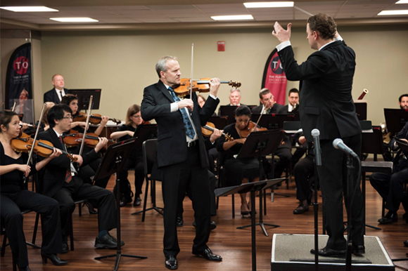The Florida Orchestra performs a concert at Tampa General Hospital for staff and patients.