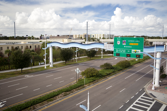The reverse lanes of the Selmon Expressway and part of Meridian Ave. will be part of the AV testing ground.