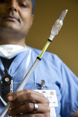 Tariq Chaudhry, MD, created a modified endotracheal tube to prevent intubation related complications.