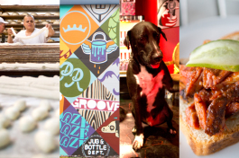 Mauricio Faedo's Bakery; Seminole Heights mural; Red Star Rock Bar pup; Fodder & Shine bbq.