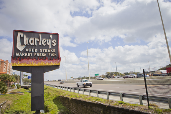 Charley's Steak House on Cypress near I-275.