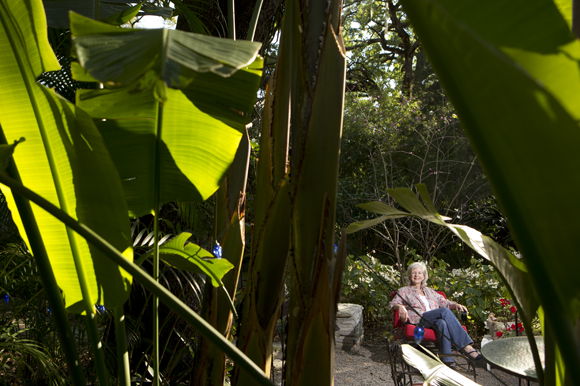 Landscape architect Laurie Potier-Brown at her home in Seminole Heights.