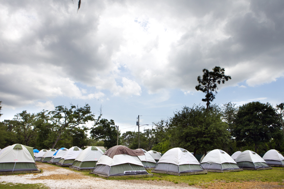 Current tent housing at Pinellas Hope.