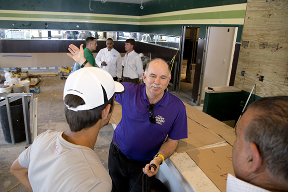 Richard Gonzmart stops at the South Tampa Goody Goody location often to oversee progress.