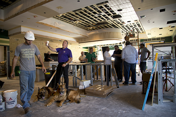 Richard Gonzmart walks through the Goody Goody site in South Tampa.