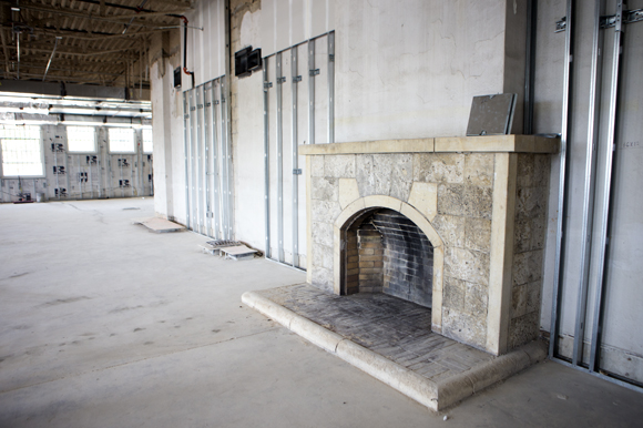 The original fireplace will be preserved.