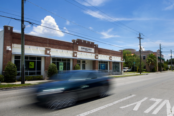 The Howard-Gray Building in West Tampa houses a variety of businesses.