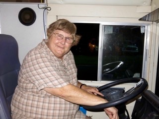 Sister Sara Proctor, physician assistant and Program Coordinator for Catholic Mobile Medical Service, drives the bus every Tuesday to bring health services to the underserved population in Wimauma.