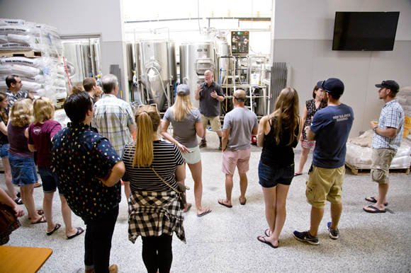Brewery tour at Cigar City Brewing.