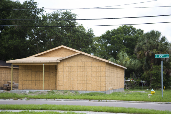 Scott Shimberg Homes construction in East Tampa.