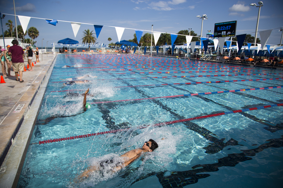 North Shore Aquatic Complex in St. Pete hosts a variety of swim meets.