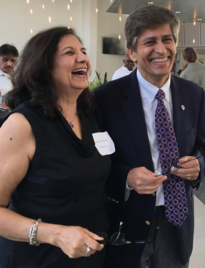 Molekule inventor, Dr. Yogi Goswami, distinguished professor and a lifetime inventor in the Florida Inventor�s Hall of Fame, and his wife Lovely Goswami.