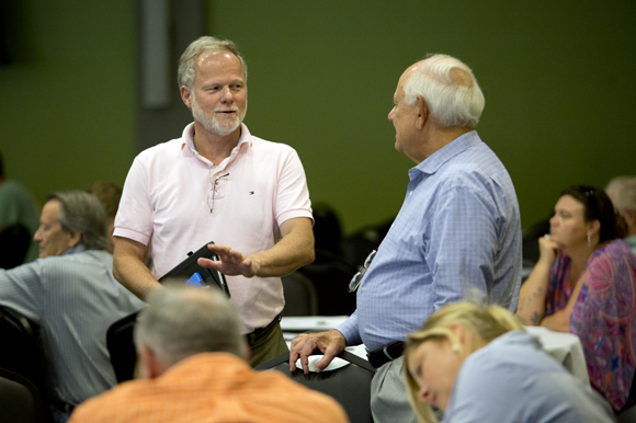 Councilman Karl Nurse participated in the Tropicana Field Master Plan Community Meeting at USFSP.