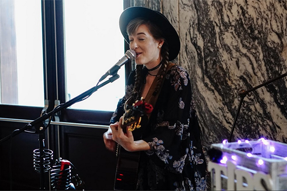 Danielle Mohr performs at the Bizou Brasserie in Le M�ridien.