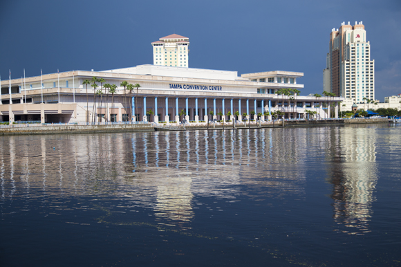 The Tampa Riverwalk at the Tampa Convention Center.