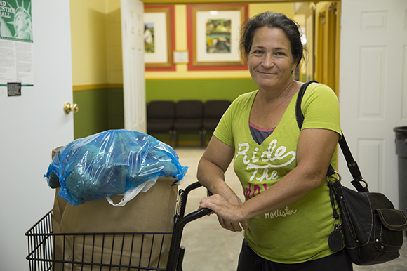 Patricia Christopher appreciates the Beth-El Farmworker Ministry food bank.