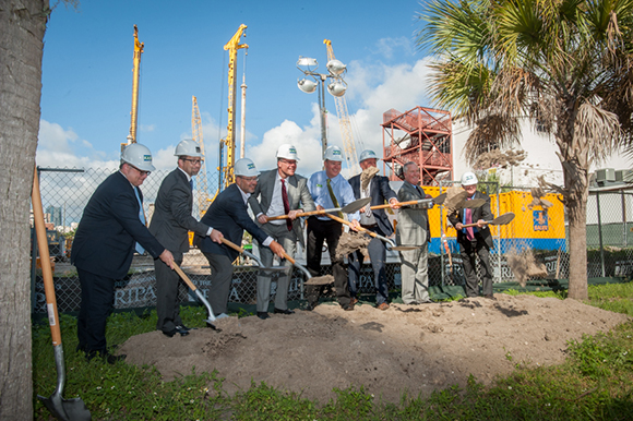 Officails were on the site Oct. 21, 2016, for an official ceremonial groundbreaking of Channel Club and a downtown Publix on East Madison Street.