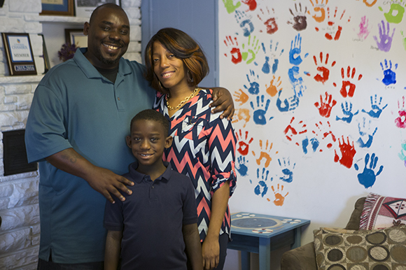Curtis, Kimberly and Caleb Darby are graduates of the Family Promise of Pinellas County program.