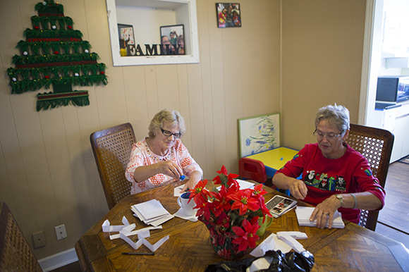 (L-R) Marge Lucas and Virginia Maxfield, are volunteers otherwise known as Office Angels at Family Promise of Pinellas County