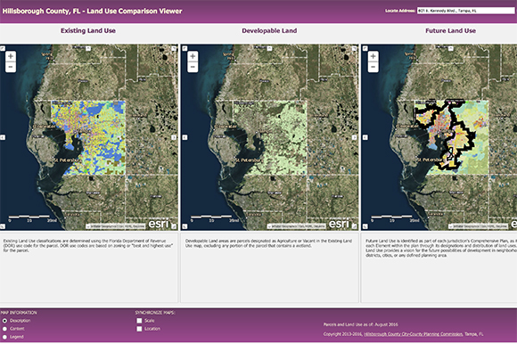 Land Use Comparison Viewer.