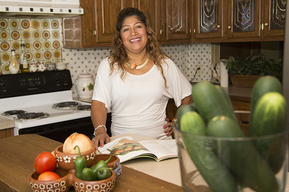 Reyna Barragan eats and feeds her family healthy food options.