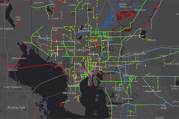 Interactive Bicycle Suitability Map.