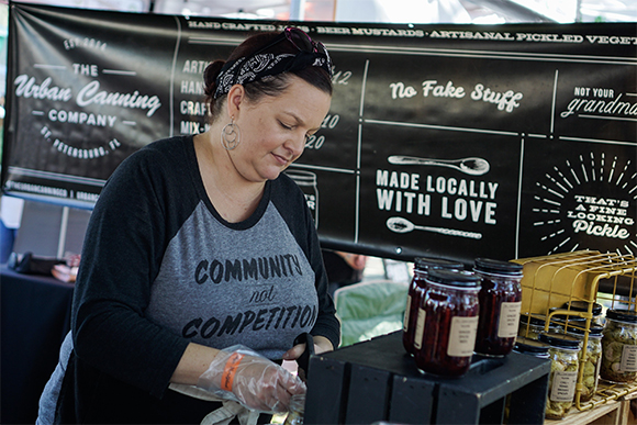 The Urban Canning Company was one of over 200 vendors who sold their products and services at Localtopia's 4th Annual festival.