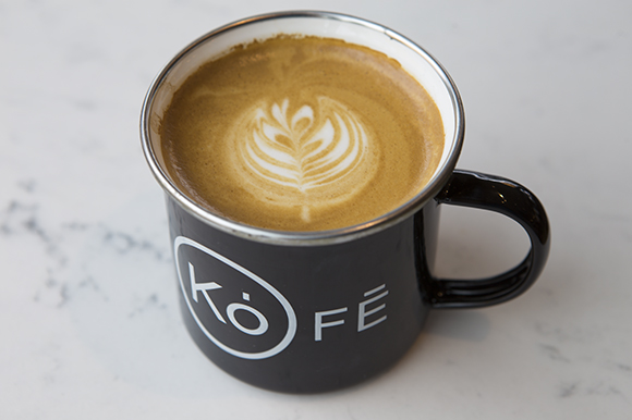 Latte from Kofe at the Hall on Franklin.