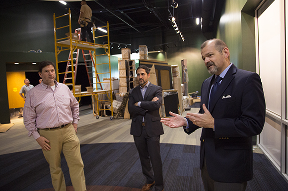 Rodney Kite-Powell, Manny Leto, and C.J. Roberts, CEO and pres., of Tampa Bay History Center.