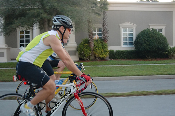 Michael Schwaid cycling in Pinellas County.