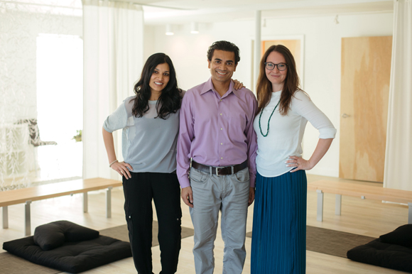 Chitra Prasad-Patel, an introspective counselor, Vim Patel, a physician, and Dawn Hans, a nutritional counselor, with  Evolve Personal Health.