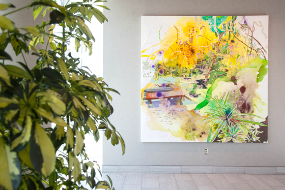 Elisabeth Condon's piece entitled 'Verdant Tampa Bay' inspired by local flora and landscapes.