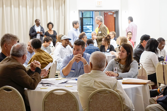 West Tampa residents and business owners brainstorm West Tampa Community Redevelopment Area plans.