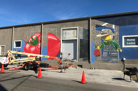 Ybor 3 D Mural In Progress