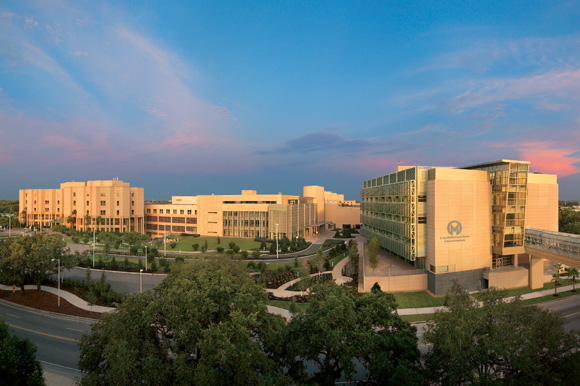 Panoramic of the Moffitt Cancer Center Magnolia Campus in Tampa.