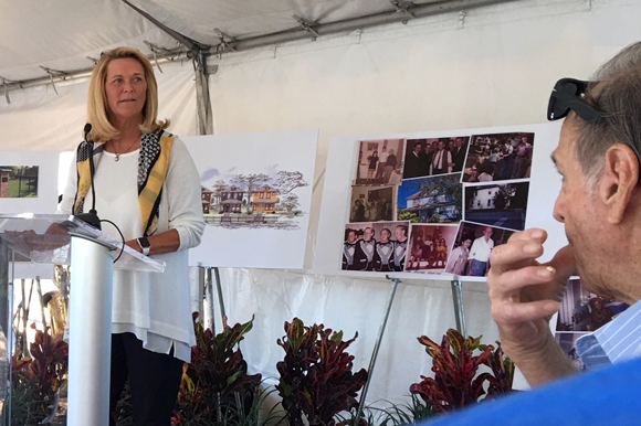 Domain Homes' Founder and President Sharon McSwain at groundbreaking in West Tampa.