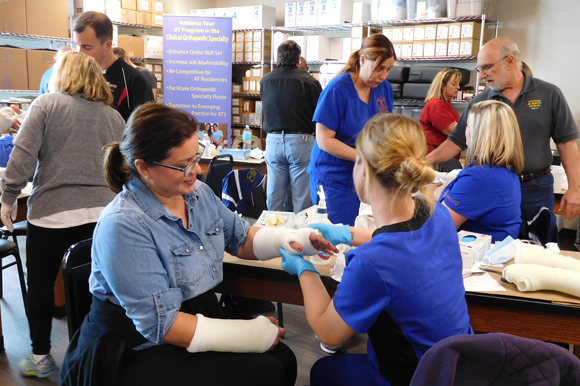 Nurses and medics at the Veterans Orthopedic Training Center's first workshop.