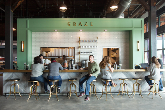 Graze 1910 serves up American fare in what used to be a streetcar storage and maintenance facility.