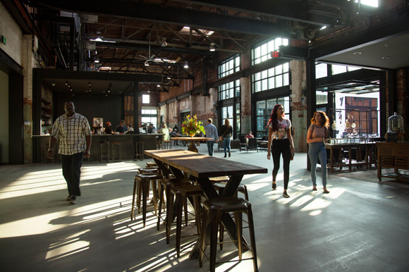Opening day inside the new Armature Works in Tampa Heights.
