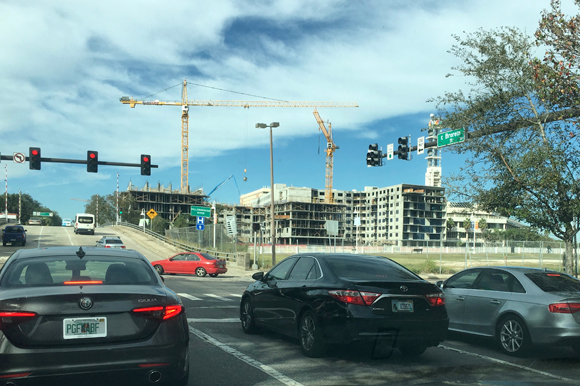 New apartments in downtown Tampa increase need for transportation solutions.
