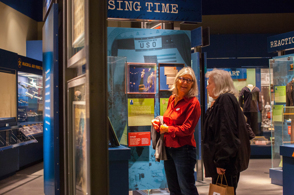 Yvonne Stoker, left, and Kathleen Hammett of Valrico explore the Tampa Bay History Center.