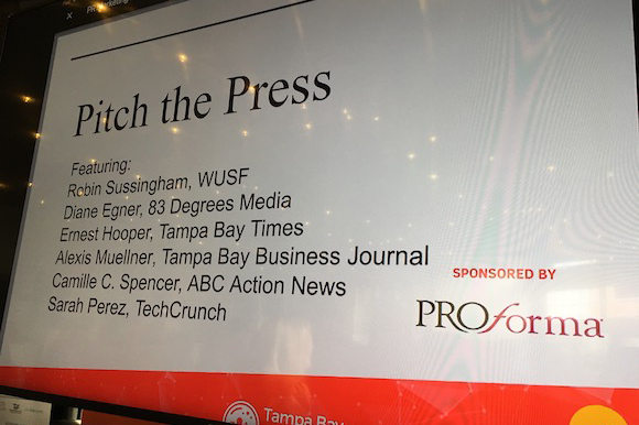 Pitch the Press panel at Tampa Bay Startup Week.