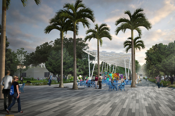 Future Welcome Plaza at the St. Pete Pier.