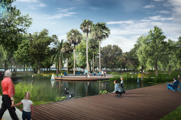 Rendering of the pond at St. Pete Pier.