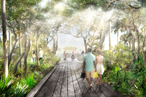 Coastal thicket rendering