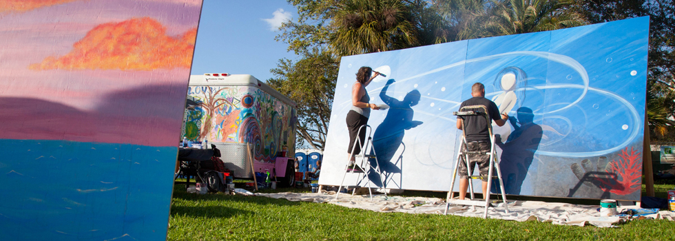 Bazaar Art Throw Down at Coachman Park in Clearwater.